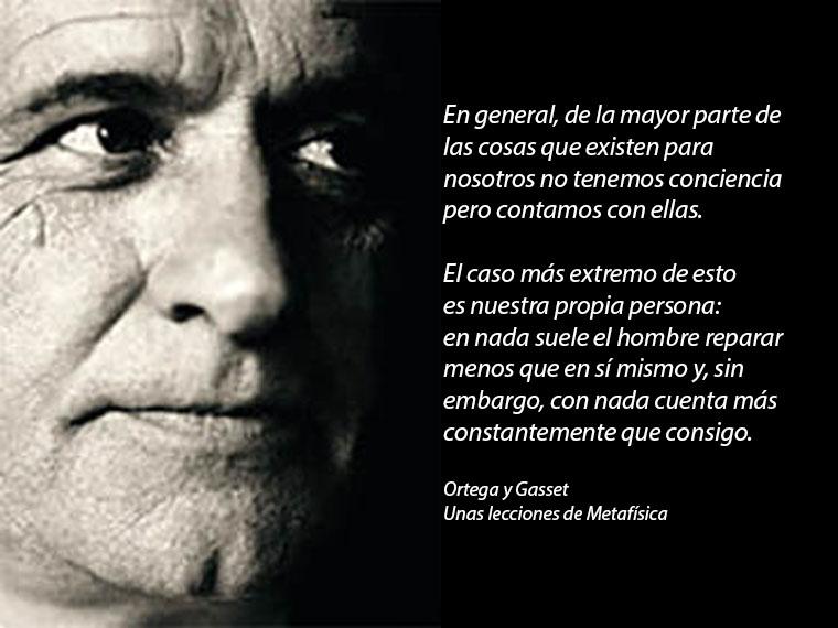 Ortega y Gasset contar consigo